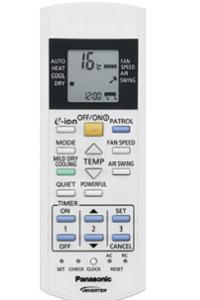 Пульт ДУ. CS-E7JKDW - кондиционер Panasonic с системой очистки воздуха E-ion