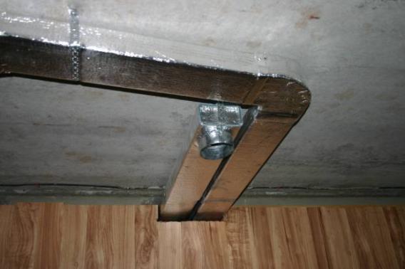 Воздуховоды из оцинкованной стали обклеивают теплоизоляционным материалом