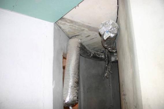 Гофрированный воздуховод из алюминиевой фольги