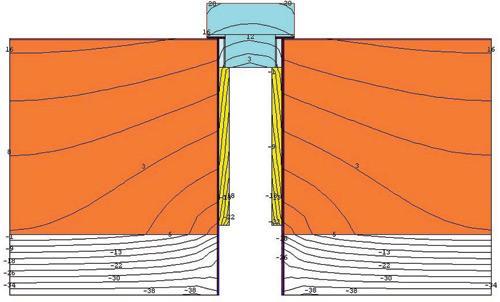 Клапан КИВ 125 в разрезе (в стене)