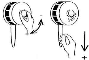Регулирование потока воздуха, проходящего через клапан, возможно при помощи рукоятки на оголовке клапана или специального шнура, если клапан расположен высоко