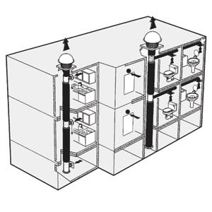 Наиболее простым решением является центробежный крышный вентилятор