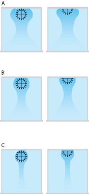 Течение воздушного потока в круглых тканевых воздуховодах в зависимости от перепада температур приточного воздуха и воздуха помещения