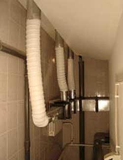 Воздуховоды, подводящие очищенный теплый воздух